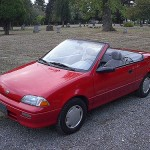 geGeo Metro Convertible (With the Top Down)