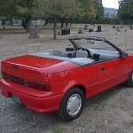 Geo Metro Convertible (With the Top Down - Back View)